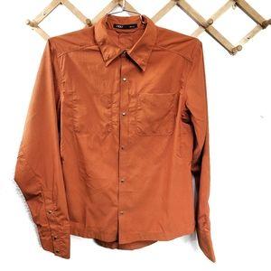 NWOT Nau Snap Down Long Sleeve Recycled  Shirt